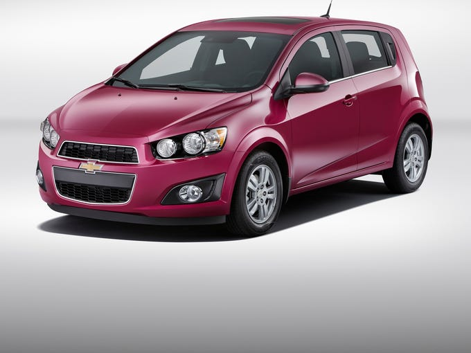 The 2014 Chevrolet Sonic will be available in Deep Magenta Metallic