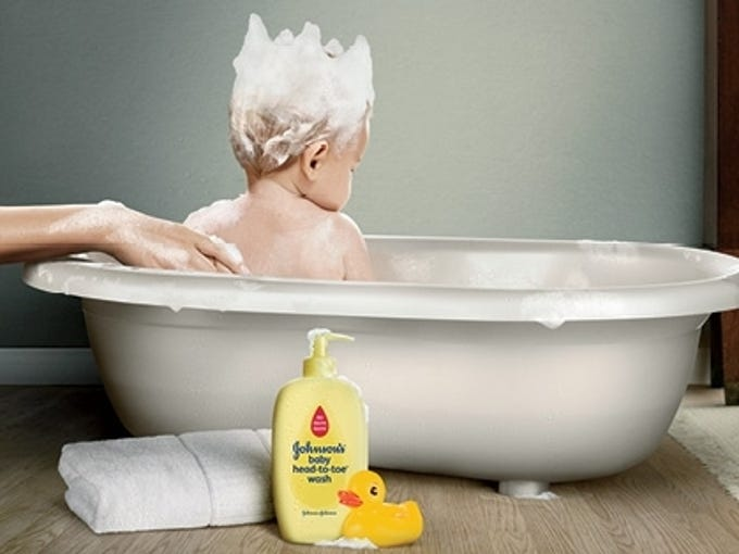 The Brits aren't the only ones besotted with the royal baby.  U.S. marketers are latching on and welcoming the birth of the royal heir  -- and plugging their products as well.  Johnson & Johnson congratulated the royal couple by featuring a baby in a bathtub with shampoo soapsuds fashioned into a crown.