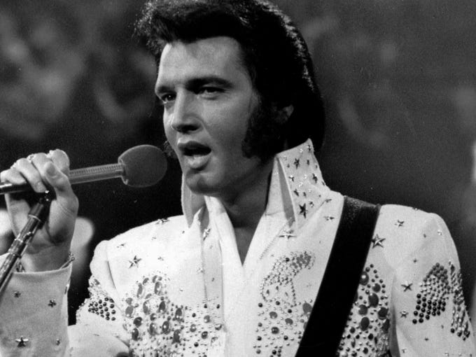 """Elvis Presley's signature jumpsuits were the look that launched thousands of impersonators — but long before the superhero capes, Elvis' style was widely imitated. """"His influence permeated every element of our lives, including the way we look,"""" says Hard Rock Cafe historian Jeff Nolan. Nolan offers USA TODAY's Korina Lopez insight into Presley's most memorable fashions."""
