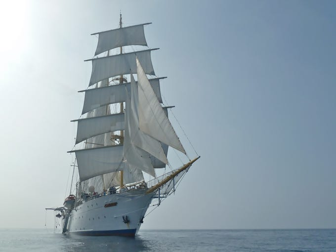 Star Clipper's Star Flyer is a 170-passenger, four-masted barquentine that takes its inspiration from the famed clipper ships of the 19th Century.  Clipper ships were built for speed, often achieving 20 knots or more and sailed to the far ends of the earth before the age of steam.
