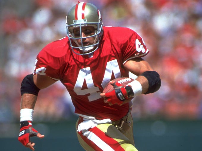 detailed look a0fe0 4dc52 Tom Rathman inducted into 49ers Hall of Fame