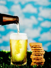 "The Girl Scout ""Do-Si-Do"" cookie is paired with a light beer."