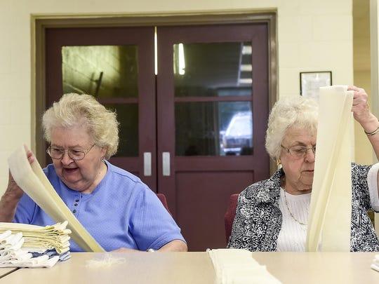 Nancy Birchfield (left) and Gwen Thomas (right) members