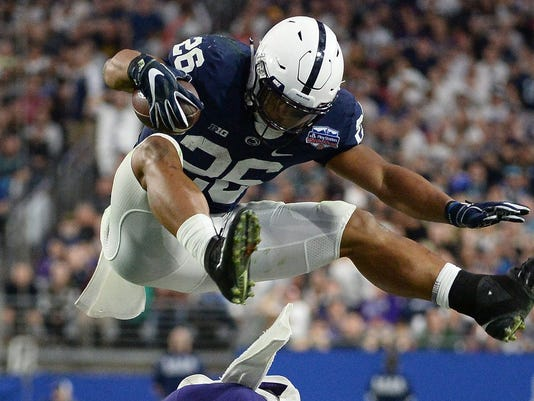 Penn State football  Saquon Barkley wows with power at the NFL Combine a8329bc8f