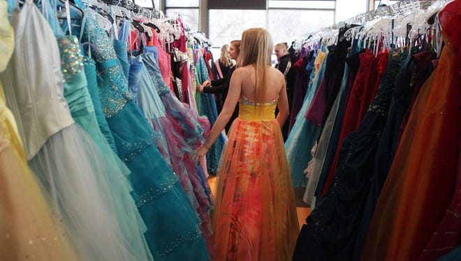 Operation Cinderella is a sea of prom dresses for low-income girls to choose from.