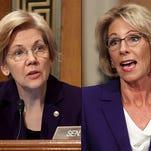 Watch: Elizabeth Warren grills Betsy DeVos in confirmation hearing