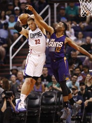 Could Blake Griffin, seen facing T.J. Warren in March,