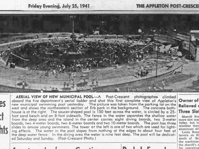 July 25, 1941 | Aerial view of Appleton's new municipal