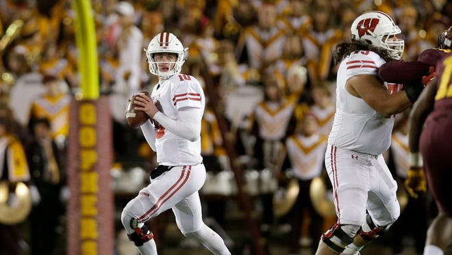Jack Coan, UW's No. 2 quarterback, played in six games as a freshman but did not get on the field for the Badgers' first two games this season.