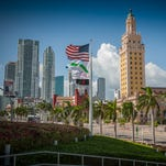 The Freedom Tower was built in 1925 to serve asThe Miami News' headquarters. This National Historic Landmark currently embodies Miami Dade College's Museum of Art + Design which showcases contemporary works that emphasize societal discourse.