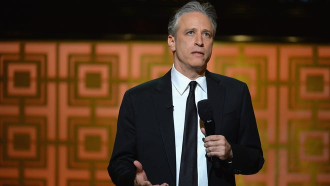 """NEW YORK, NY - MAY 06:  Jon Stewart speaks onstage at Spike TV's """"Don Rickles: One Night Only"""" on May 6, 2014 in New York City.  (Photo by Theo Wargo/Getty Images for Spike TV) ORG XMIT: 488863657 ORIG FILE ID: 488487229"""