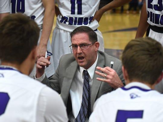 Spanish Springs high basketball head coach Kyle Penney