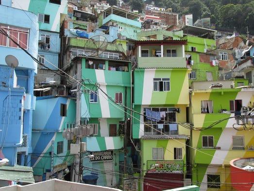 Taken during a tour of the Santa Marta Favela in Rio Janeiro. 2013 GLI Cultural Tour of Sao Paulo and Rio Janeiro, Brazil.