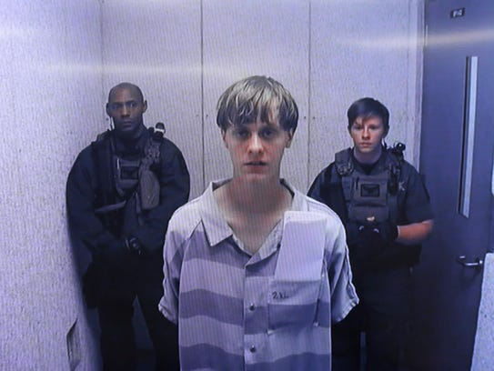 Dylann Roof appears at Centralized Bond Hearing Court