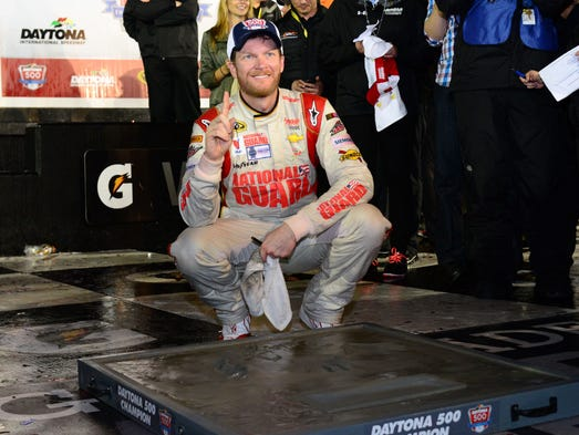 Feb. 23: Dale Earnhardt Jr. wins the Daytona 500 at Daytona International Speedway.