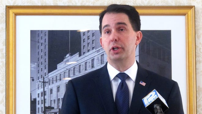 Wisconsin Gov. Scott Walker discusses his decision to reject a proposal to build a new $800 million casino in Kenosha last month.