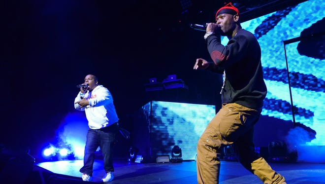 """Rap group Naughty By Nature performs at HOT 97's """"The Tip Off"""" at Madison Square Garden in New York on Feb. 12."""