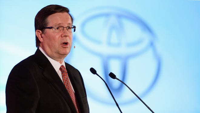 Jim Lentz, President  and CEO Toyota Motor Sales, USA.