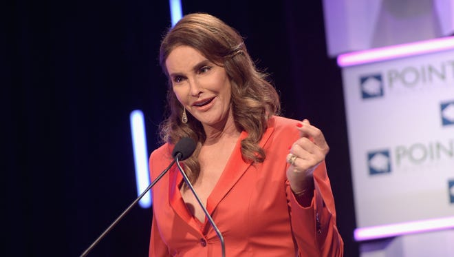 Caitlyn Jenner at Point Foundation's Annual Voices On Point Gala on Oct. 3, 2015 in Los Angeles.