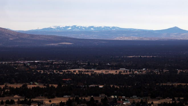 The Ochoco Mountains. From the vantage point of Pilot Butte State Park in Bend.