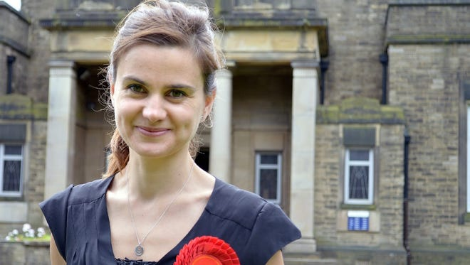 Jo Cox in 2014. Cox, a young Labour member of the British parliament, died Thursday after being shot and stabbed repeatedly on the street in a village in northern England where she was meeting with local constituents.