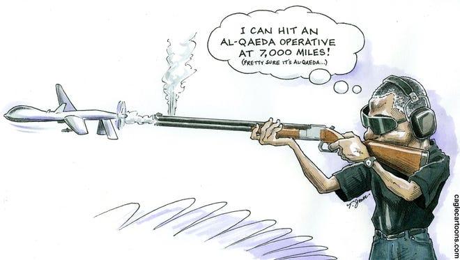Taylor Jones, Hoover Digest, drew this editorial cartoon.