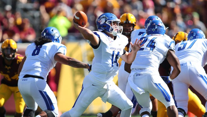 Indiana State quarterback Isaac Harker threw for 237 yards and two touchdowns in the Sycamores' win over Illinois State.