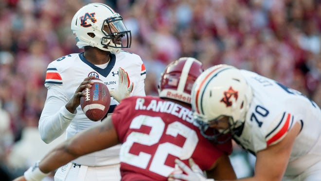 Montgomery native and former Auburn quarterback Jeremy Johnson (6) has been invited to New York Giants rookie minicamp this weekend.