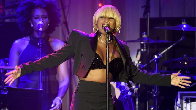 Mary J. Blige, pictured at the Clive Davis and The Recording Academy Pre-Grammy Gala at the Beverly Hilton Hotel on Saturday, Feb. 11, 2017 in Beverly Hills, Calif., performs in Atlantic City on July 3.