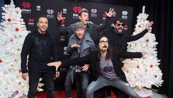 The Backstreet Boys pose for a photo during the 2017