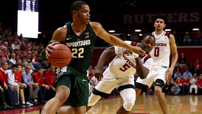 Miles Bridges and the Spartans struggled in their first meeting with Rutgers, before pulling away for a 62-52 in early December in Piscataway, New Jersey.