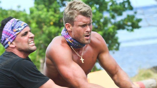 Domenick Abbate and Chris Noble on 'Survivor: Ghost Island.'