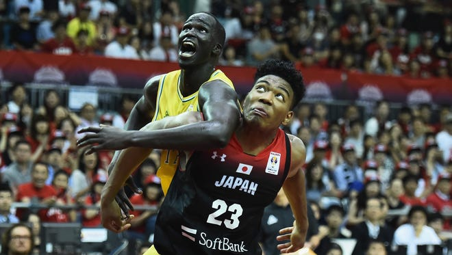 The Bucks' Thon Maker, who is playing for Australia in the FIBA World Cup qualifying tournament, was involved in a brawl vs. the Philippines.