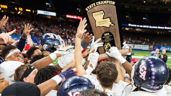 Lafayette Christian Academy beats Ascension Catholic to win Division IV State Championship game.  Thursday, Dec. 6, 2018.