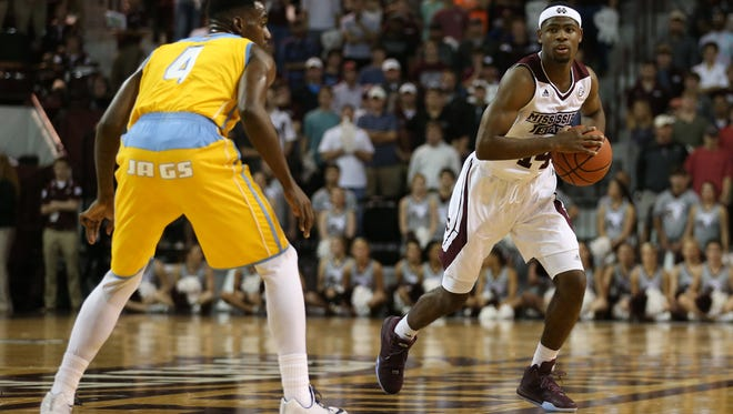 Malik Newman (14) and Mississippi State go on the road for the Puerto Rico Tipoof to play Miami.