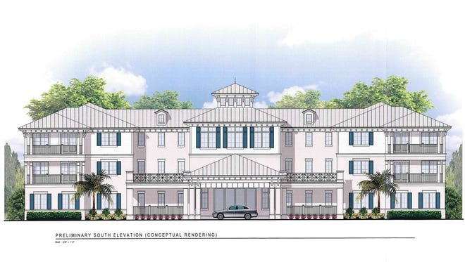 This rendering shows the proposed Midway Detox and Rehab Center.