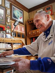 """Don Jirschele, a legendary sports figure and promoter in Clintonville who played football for Paul 'Bear"""" Bryant at the University of Kentucky, has died."""