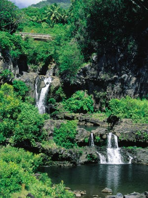 Oheo Gulch, seven pools area, is in Haleakala National Park on the island of Maui.