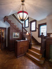 View of the main staircase at the Buttery in downtown Lewes.