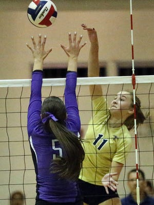 Coronado's Campbell Bowden, 11, hits the ball past Danielle Blanco, 5, of Franklin Tuesday night at Franklin.