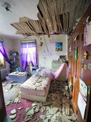 Brian Heiland's daughter's bedroom after a chimney