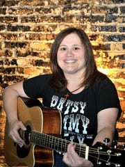 """Jennifer Toledo stars and co-director in the production of Visalia Players  """"Honky Tonk Nights"""" a Ca-beer-ay in the lobby of the Visalia Ice House Theatre, show times are May 19, 20 at 7:30pm and May 21 at 4:00pm tickets are $13.00."""