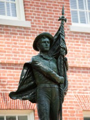 The Talbots Boys monument at the Talbot County Courthouse in Easton, Md.