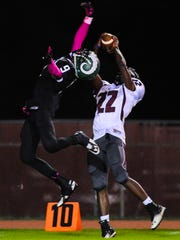 Parkside free safety Juwan Williams attempts to deflect