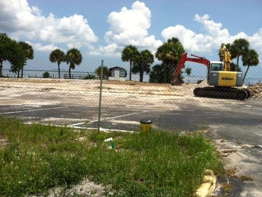 The former Howard Johnson in Titusville is being demolished for future projects.