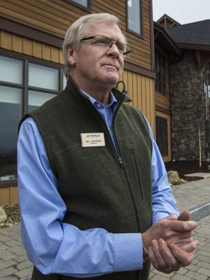 Developer Bill Stenger discusses the challenges he has faced with the Q Burke Resort project in East Burke on Thursday, March 10, 2016.