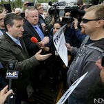 Democrat Bernie Sanders and Republicans Donald Trump and Ted Cruz will hold rallies in the Indianapolis area on Monday, a day before Indiana's May 3 primary.