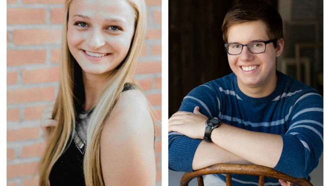 Larkin Hooker-Moerick and Robert Durfee from Waupaca are this week's top scholars.