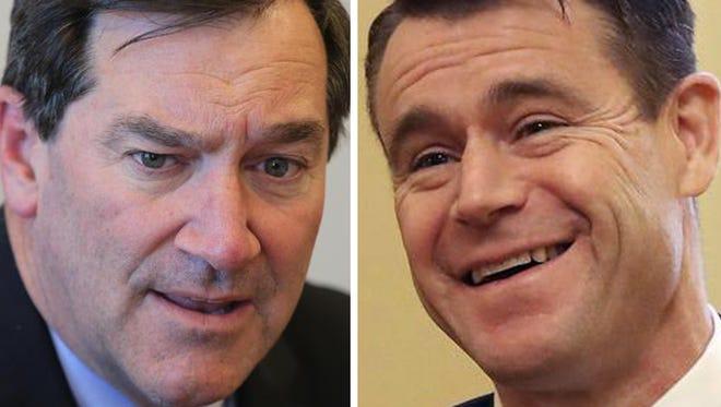 Democratic Sen. Joe Donnelly (left) and Republican  Sen. Todd Young.