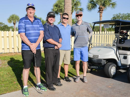 Bill Nipper, left, Glenn, Hyman and Nick Rains at John
